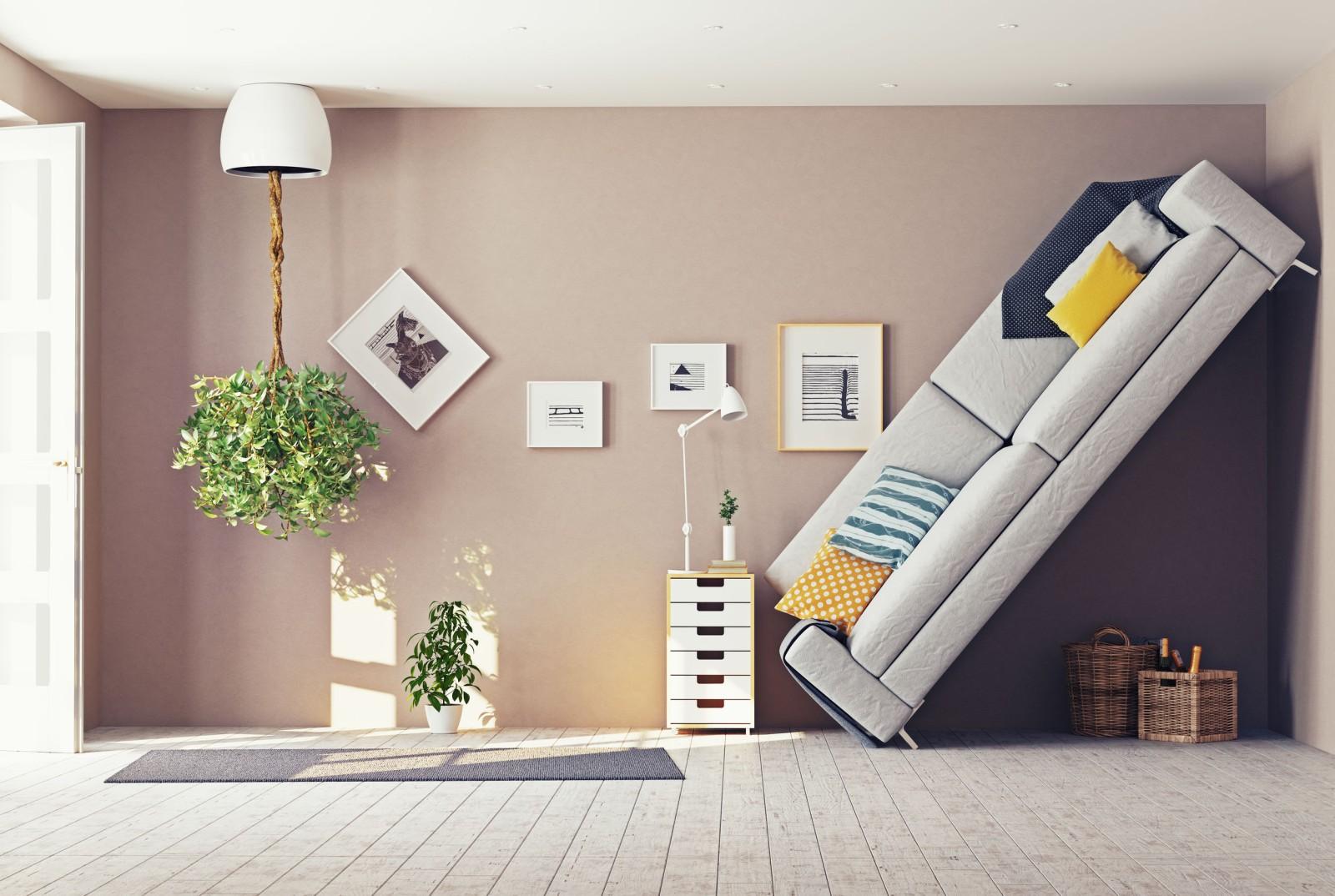 Nappali szoba bútorokkal
