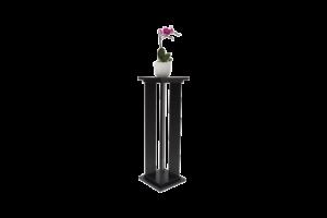 Bútorlapos virágtartó álló fekete
