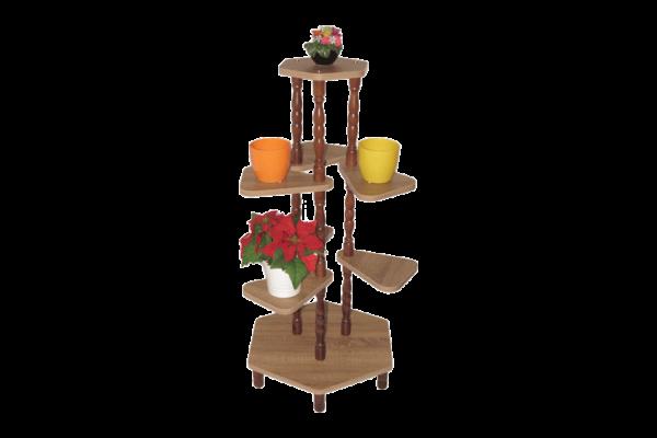 Szögletes pogácsájú virágtartó