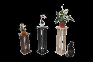 Bútorlapos virágtartók fekete, wenge, sonoma színekben