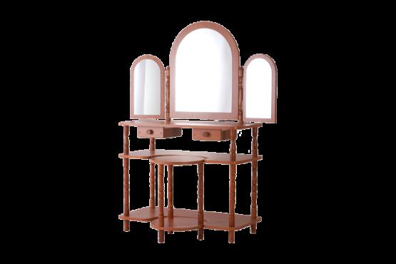Sminkes asztal polcos 3 tükörrel székkel