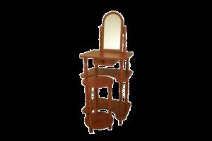 Sminkes asztal polcos 1 tükörrel székkel