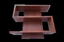 S alakú polc bútorlapos calvados