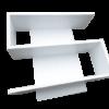 S alakú polc bútorlapos fehér