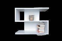 S alakú polc bútorlapos dekorral